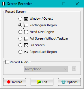 Screen Recorder Dialogue