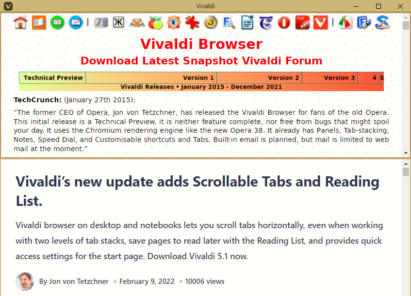 Click to View Larger Image of Vivaldi Window